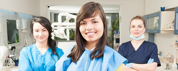 Three orthodontic team members