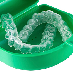 Case with Invisalign trays inside